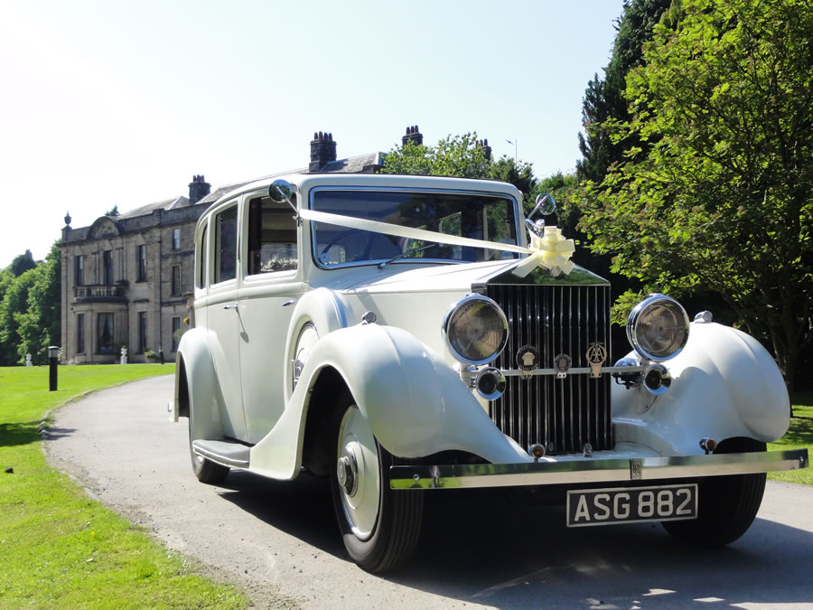 Rolls Royce Limoousine at a Beamish Hall Wedding