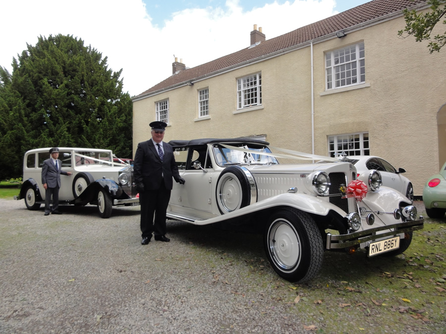 1933 style vintage wedding car with Rolls Royce Limo