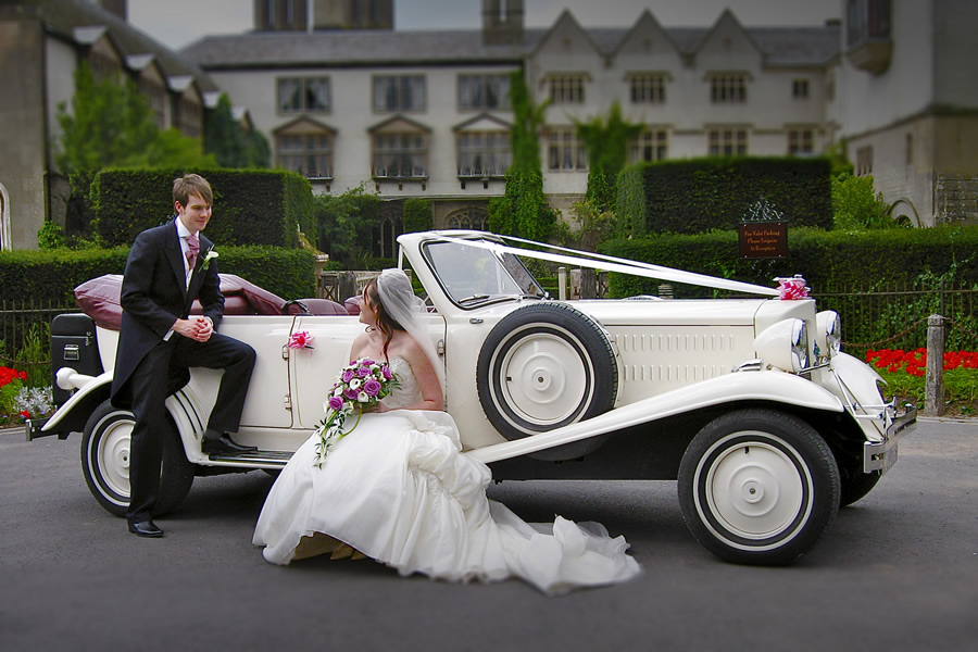 Wedding Car with Couple